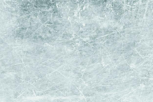 背景としての青い氷、雪の質感を持つ氷 Premium写真