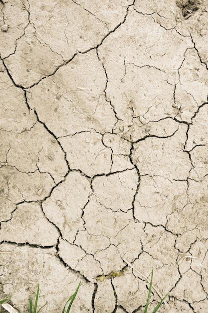 Сухая грязь пустыни фоновой текстуры Premium Фотографии