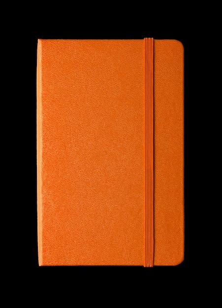 Оранжевый закрытая тетрадь Premium Фотографии