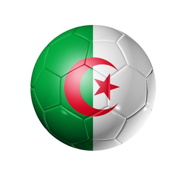アルジェリアの国旗とサッカーサッカーボール Premium写真