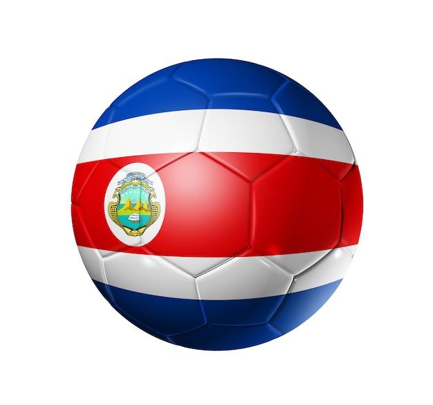 コスタリカの国旗とサッカーサッカーボール Premium写真