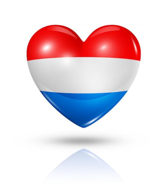 オランダのハートフラグアイコンが大好き Premium写真