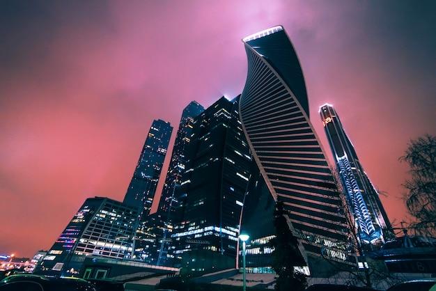 モスクワ市。モスクワ国際ビジネスセンター。ロシア Premium写真