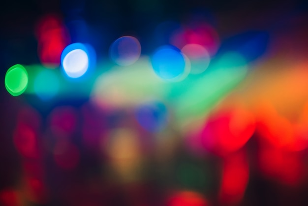 多重ぼやけた光とカラフルなボケ背景 Premium写真