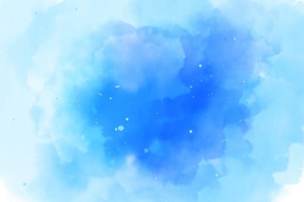 青い水彩背景テクスチャ Premium写真