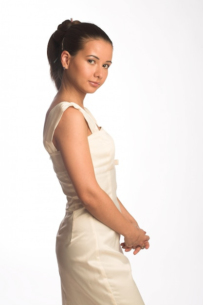 美しい花嫁の女性 Premium写真