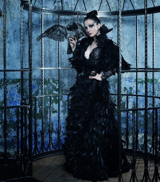 ファンタジードレスのファッションモデル Premium写真