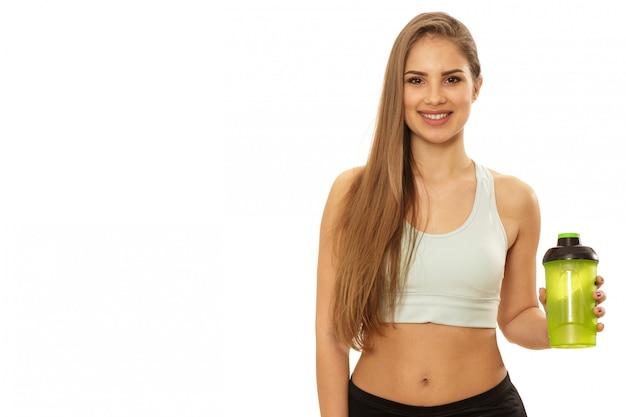 健康的な美しいフィットネス女性のトレーニングの準備ができて Premium写真