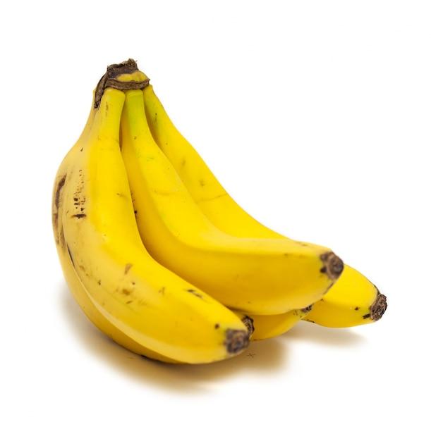Бананы на белом фоне Бесплатные Фотографии