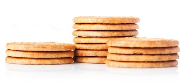 列に配置されたクッキー 無料写真