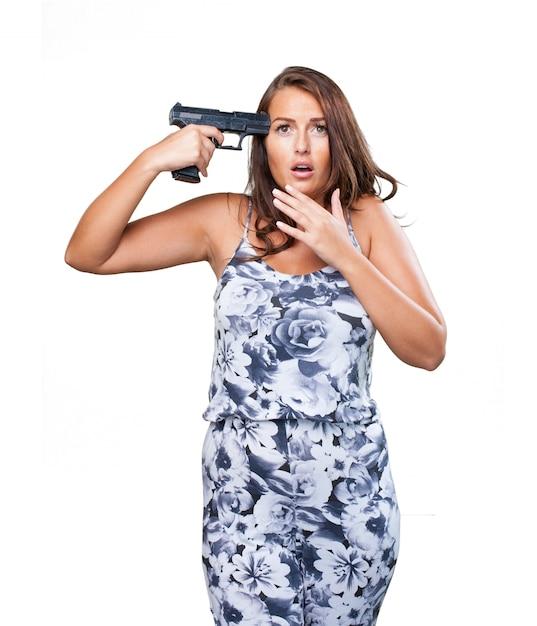自殺しようとした女性 無料写真