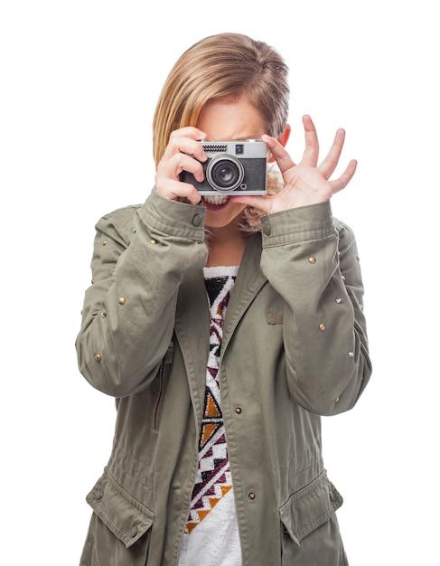 スタジオには、技術、デジタル、顔を取ります 無料写真
