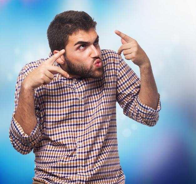 Человек сторона молодой смешной грустно Бесплатные Фотографии