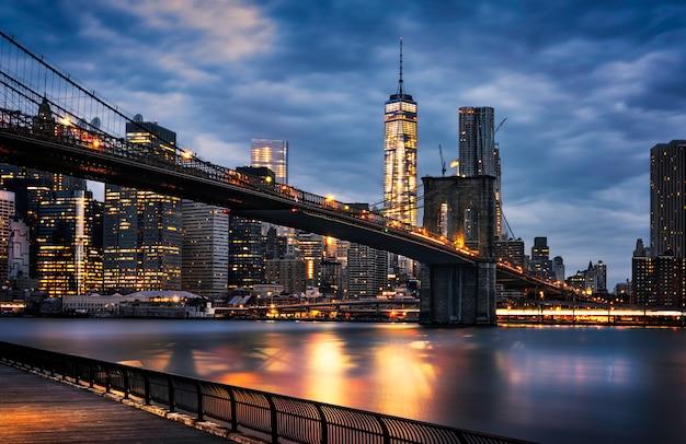 ニューヨーク市のライト Premium写真