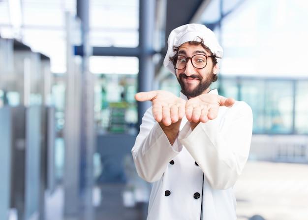 Сумасшедший повар счастливым выражением Бесплатные Фотографии