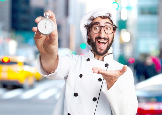 Сумасшедший повар удивил выражение Бесплатные Фотографии