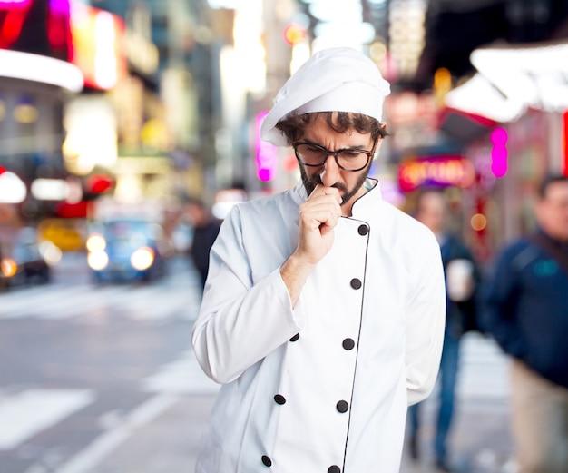 Сумасшедший повар озабоченное выражение Бесплатные Фотографии