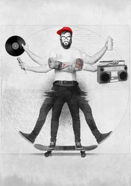 ヒップホップの男のコンセプト 無料写真
