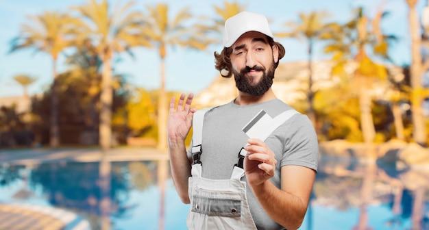 クレジットカードでプロの画家 Premium写真
