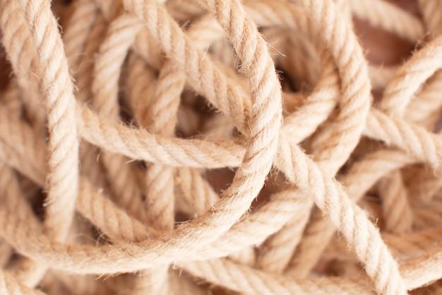 Теплая морская текстура веревки Premium Фотографии