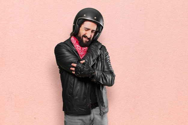 バイクライダーの事故の犠牲者 Premium写真