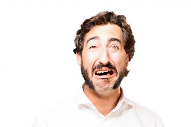 Человек плачет с открытым ртом Бесплатные Фотографии