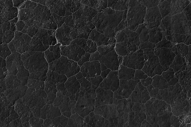 ひびの入った黒壁のテクスチャ 無料写真
