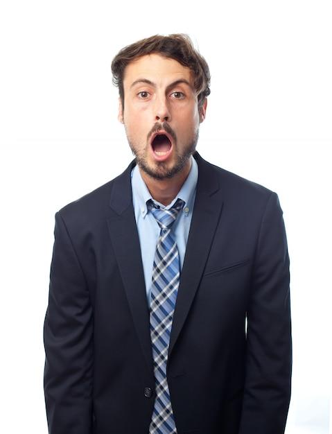 企業のストレスが激怒白驚か 無料写真
