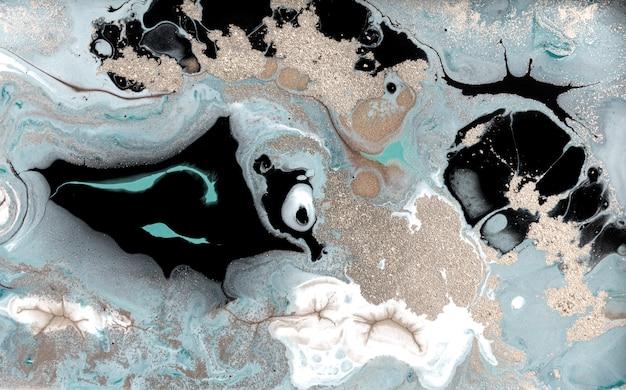 淡い霜降りの背景。シンプルな大理石の液体テクスチャ。 Premium写真