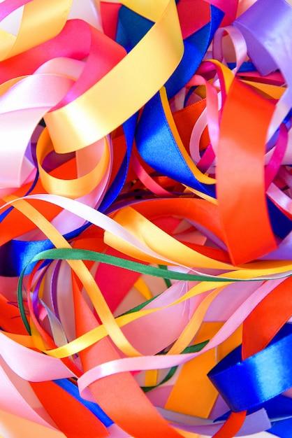 Фон из разноцветной ленты Premium Фотографии