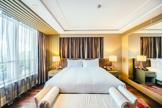 Номер элегантный отель с большой кроватью Бесплатные Фотографии