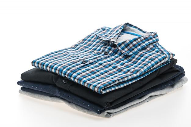男性のシャツのスタック 無料写真