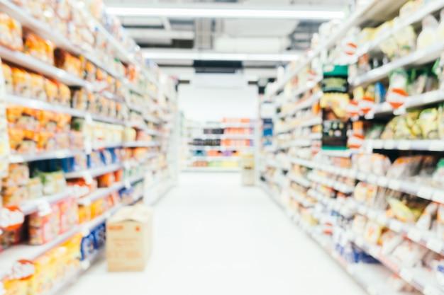 抽象的なぼかしとデフォーカスされたスーパーマーケット 無料写真