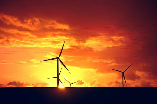 風車。代替エネルギー。 無料写真