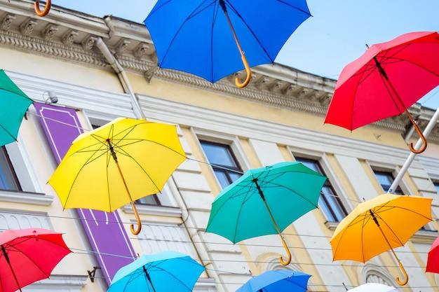 Красочный фон зонтики, Premium Фотографии