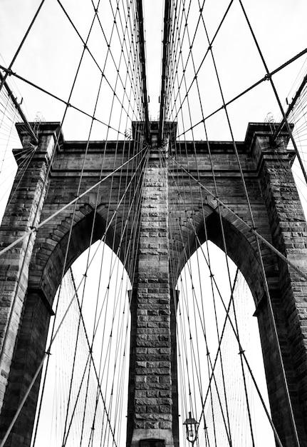 屋外ブルーニューヨークのシンボル橋 無料写真