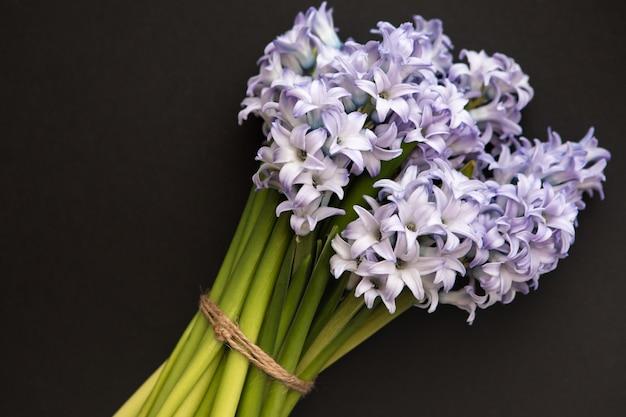 青い春の花ヒヤシンスの小さな花束 Premium写真