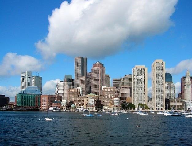 Бостон горизонта массачусетс городских зданий Бесплатные Фотографии