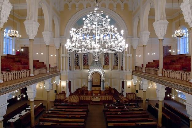 Интерьер синагоги петербург россия санкт-люстра Бесплатные Фотографии