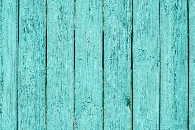 Бирюзовый деревянный фон с копией пространства Premium Фотографии
