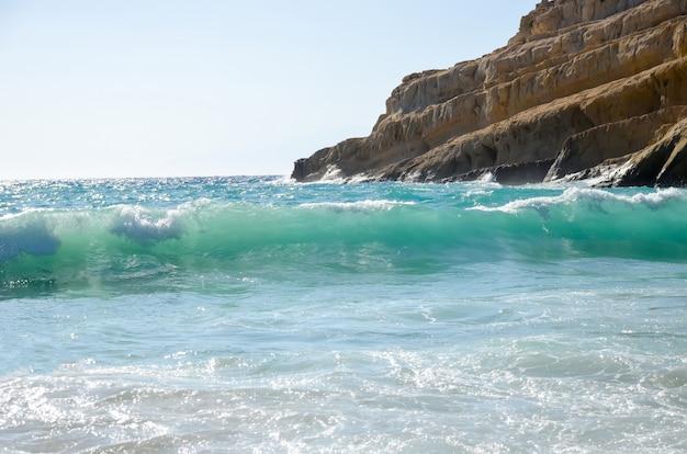 マタラギリシャ、クレタ島の美しいビーチ Premium写真