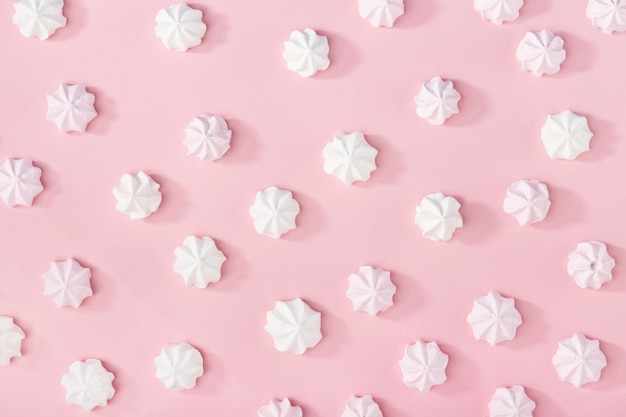 ピンクの白マシュマロ 無料写真