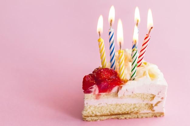 Картинки кусок торта со свечкой