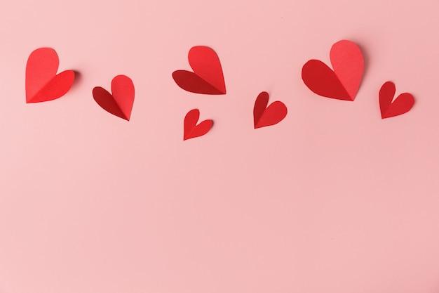 紙のバレンタインデーハートピンク 無料写真