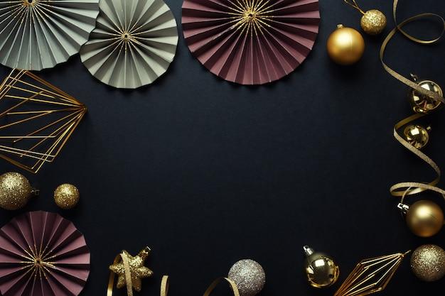 最小限のクリスマスフラットレイアウト 無料写真
