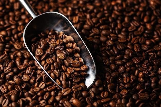 スクープのコーヒー豆 Premium写真