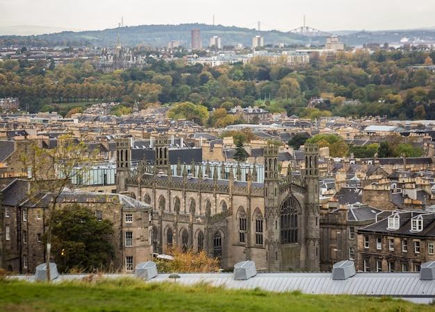 イギリスの中世都市、都市景観 Premium写真