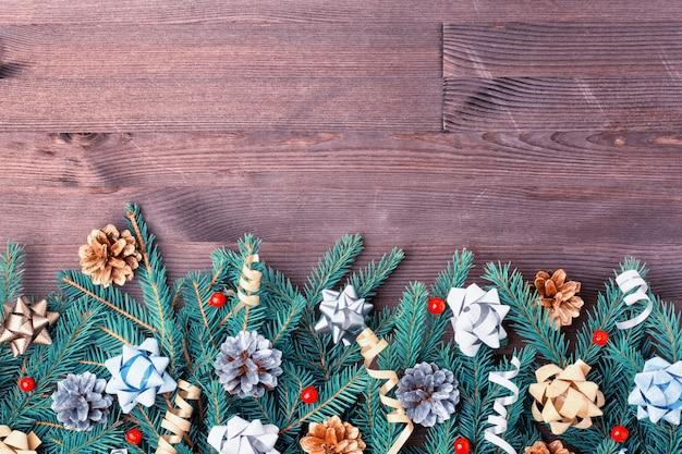 Рождественская композиция, орнамент. Premium Фотографии