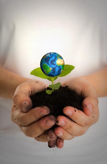 Руки с планеты земля и земли под Бесплатные Фотографии