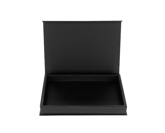 オープン木製のブラックボックス 無料写真